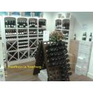 Grenenhouten wijnrekken Kabinett zijn bij grotere aantallen in meerdere kleuren leverbaar.